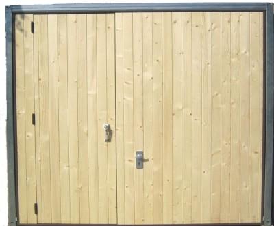 Porte de garage bardage bois SN16